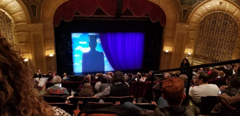 Seating view for Detroit Opera House Section Mezzanine 3 Row G Seat 105