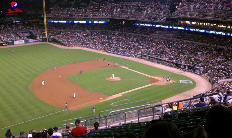Seating view for Comerica Park Section 338 Row 14 Seat 10