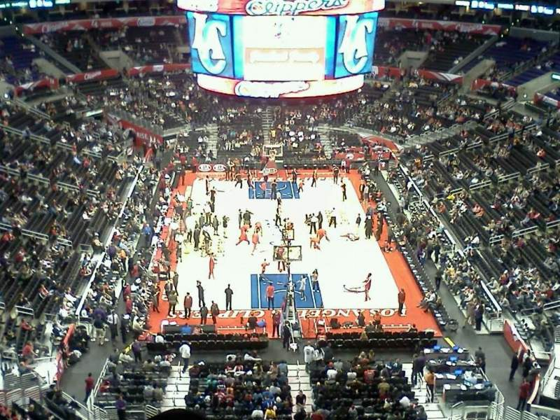 Seating view for Staples Center Section 327 Row 3 Seat 3