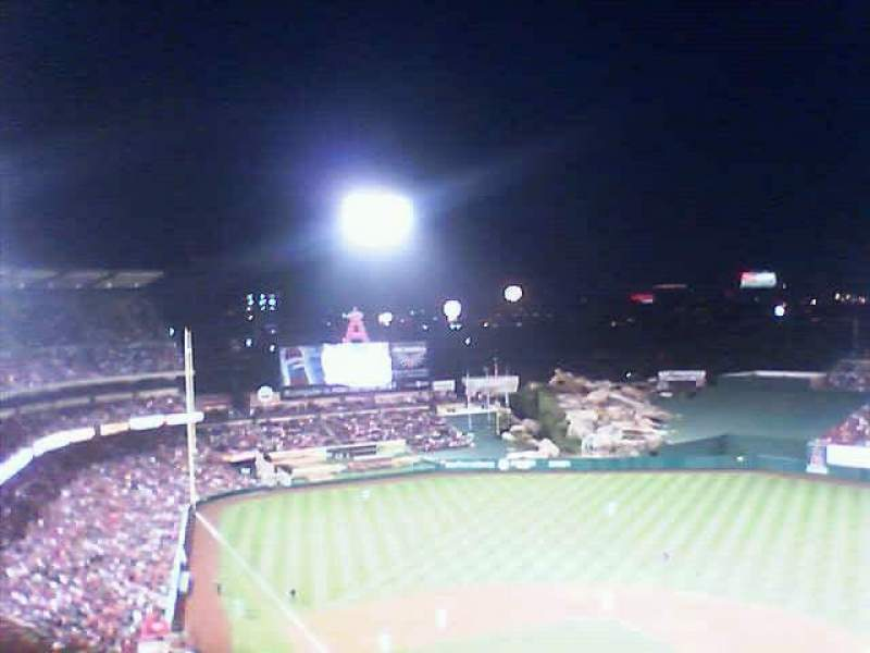 Seating view for Angel Stadium Section V523
