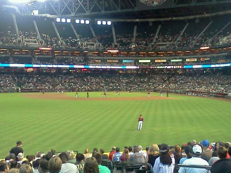 Seating view for Chase Field Section 143 Row 29 Seat 5