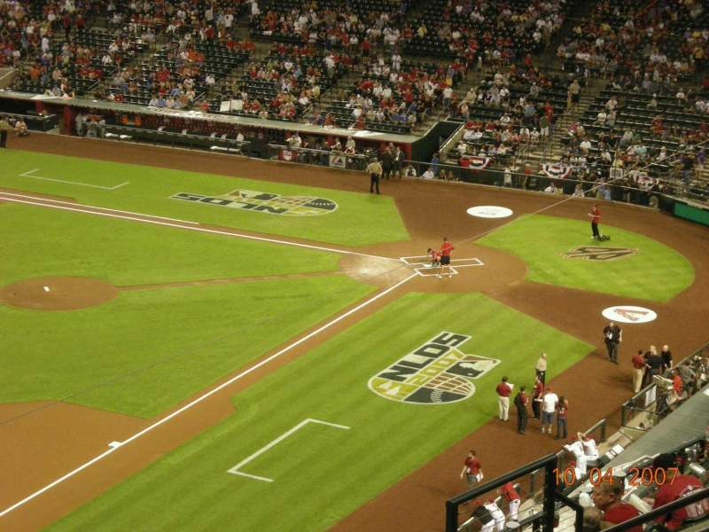 Seating view for Chase Field Section 328 Row 11 Seat 14