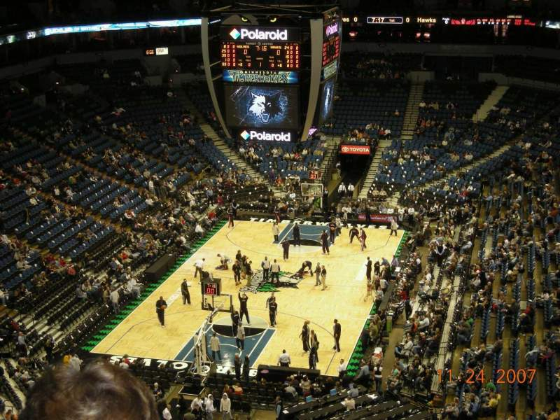 Seating view for Target Center Section 239 Row K Seat 6