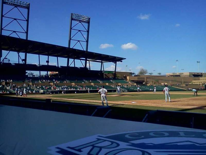 Seating view for Salt River Fields