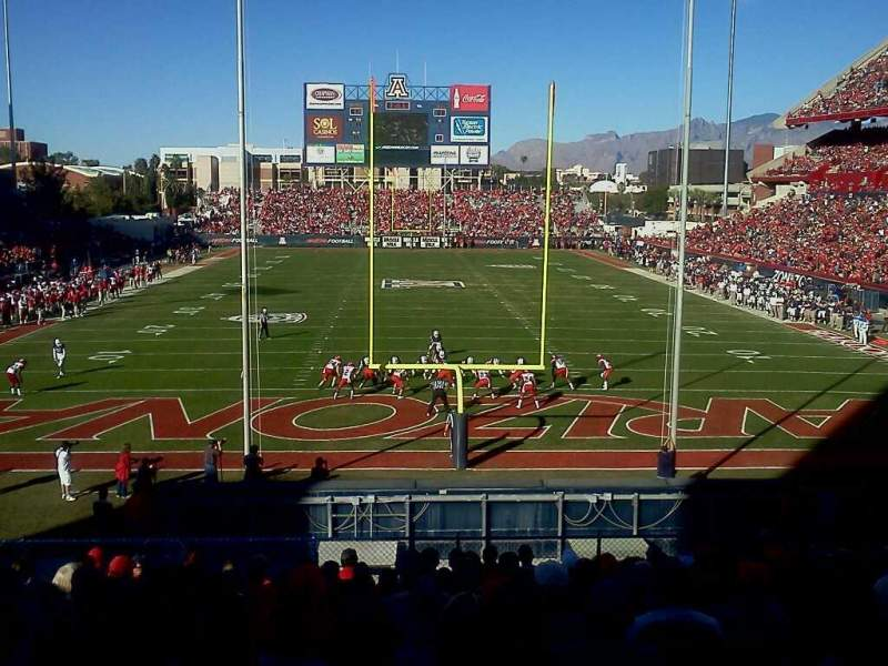Seating view for Arizona Stadium Section 12 Row 30 Seat 16
