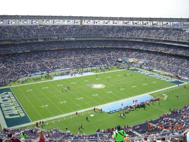 Seating view for Qualcomm Stadium Section V61