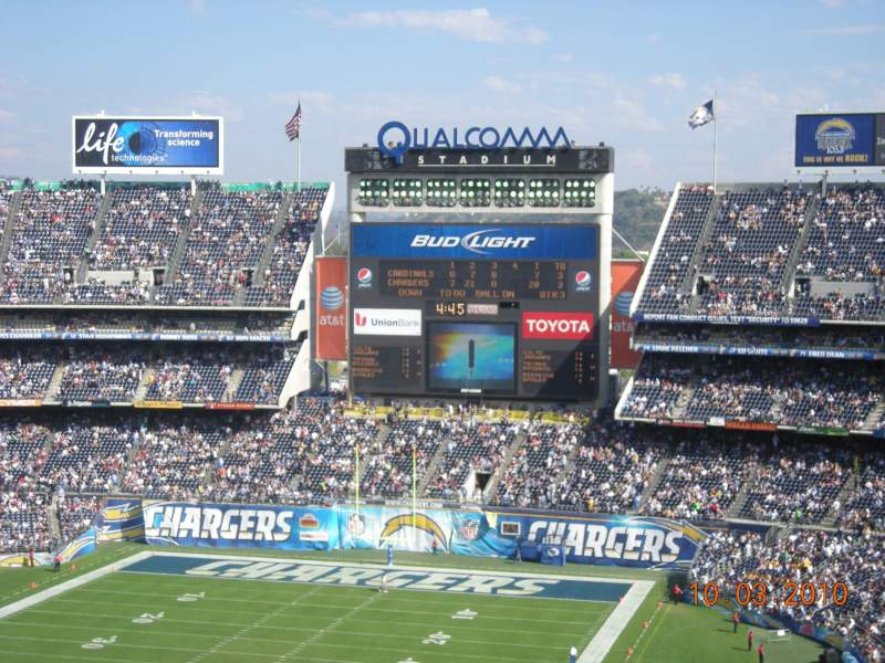 Seating view for Qualcomm Stadium Section V25