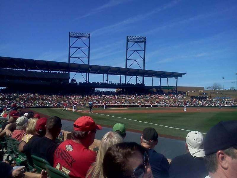 Seating view for Salt River Fields Section 101 Row 3 Seat 6