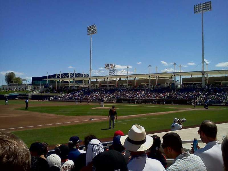 Seating view for Maryvale Baseball Park Section 114 Row H Seat 6