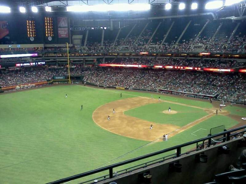 Seating view for Chase Field Section 328 Row 10 Seat 17