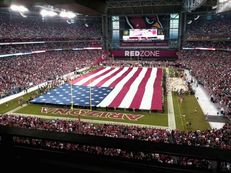 Seating view for University of Phoenix Stadium Section 424