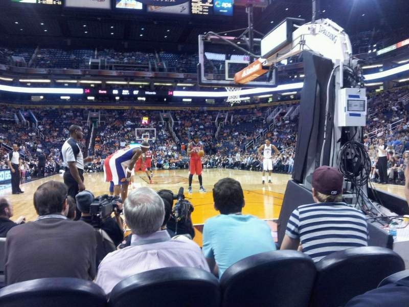 Seating view for Talking Stick Resort Arena Section 120 Row C Seat 23