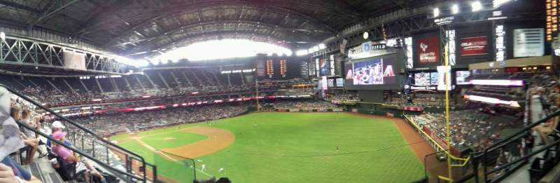 Seating view for Chase Field Section 303 Row 3 Seat 5