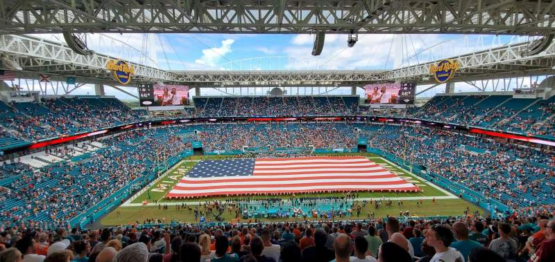 Seating view for Hard Rock Stadium Section 347 Row 27 Seat 6