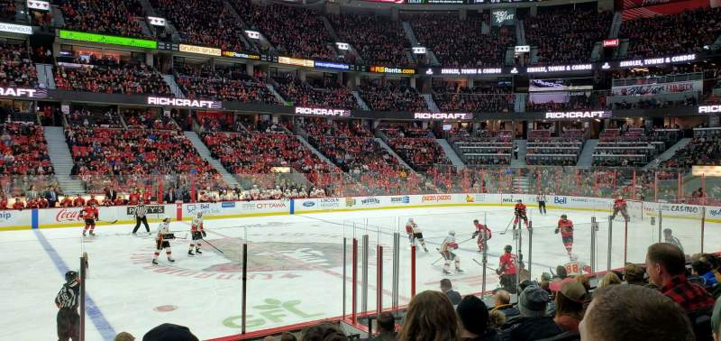 Seating view for Canadian Tire Centre Section 117 Row K Seat 8