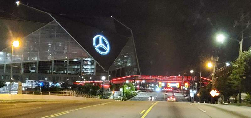 Seating view for Mercedes-Benz Stadium