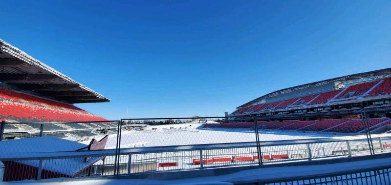 Seating view for TD Place Stadium