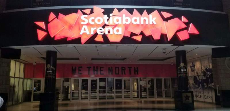 Seating view for Scotiabank Arena Section Gate 1