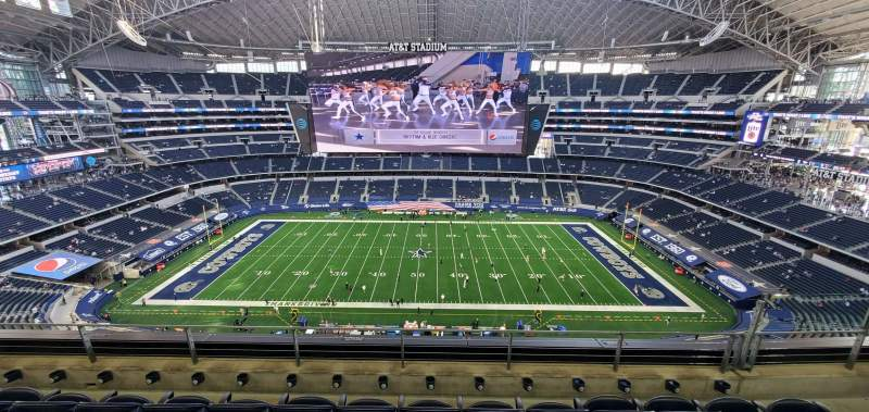 Seating view for AT&T Stadium Section 443 Row 4 Seat 12