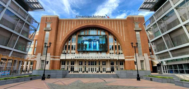 Seating view for American Airlines Center Section South Entrance