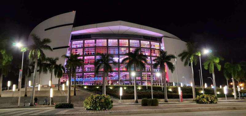 Seating view for American Airlines Arena Section Gate 2