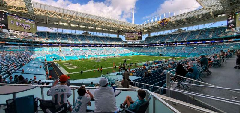 Seating view for Hard Rock Stadium Section 153