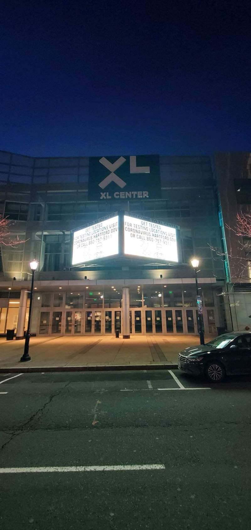 Seating view for XL Center Section Main Entrance
