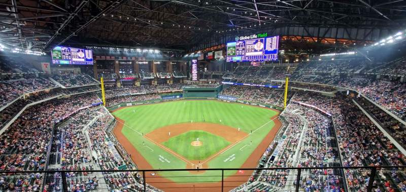 Seating view for Globe Life Field Section 314 Row 3 Seat 2