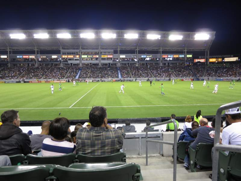 Seating view for StubHub Center Section 132 Row F Seat 1