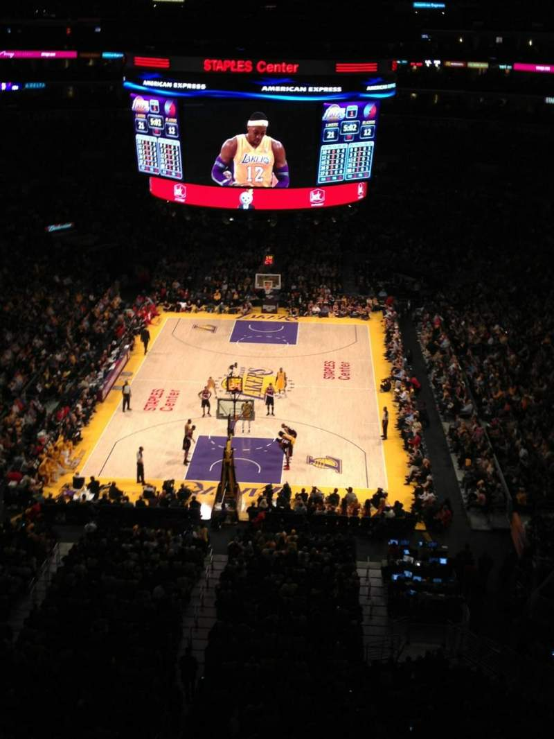 Seating view for Staples Center Section 326 Row 1 Seat 7