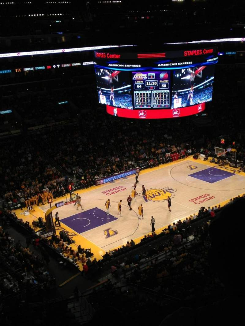 Seating view for Staples Center Section 321 Row 3 Seat 9