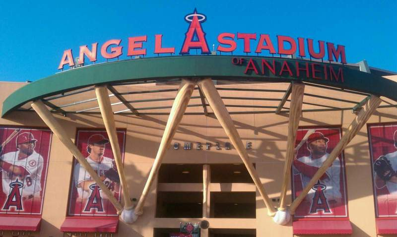 Seating view for Angel Stadium Section entrance