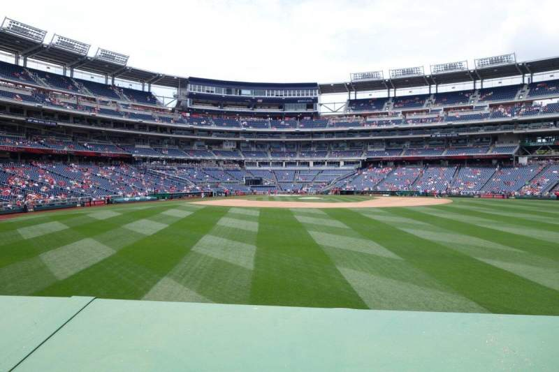 Seating view for Nationals Park Section 141 Row A Seat 5
