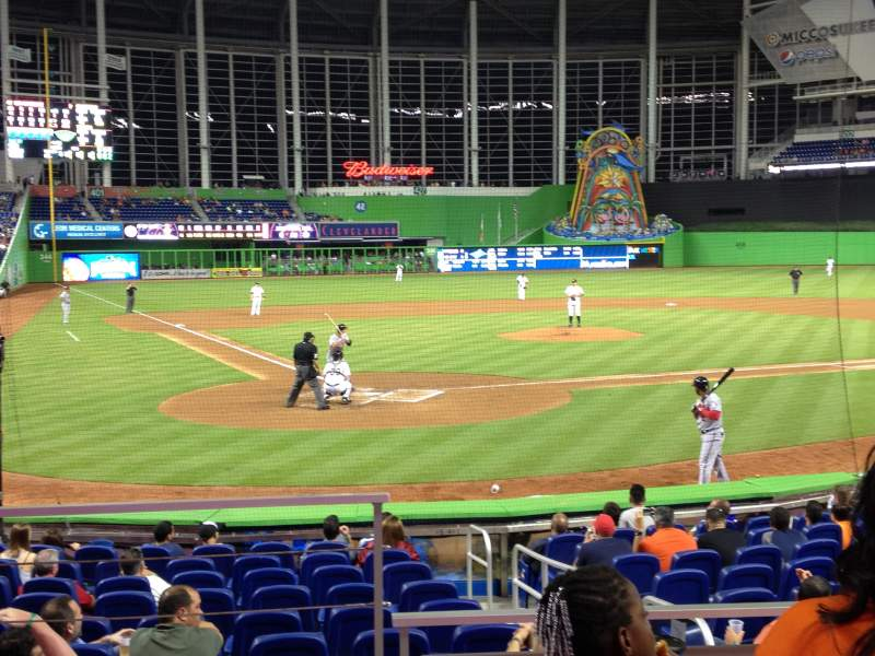 Seating view for Marlins Park Section 12 Row C Seat 8