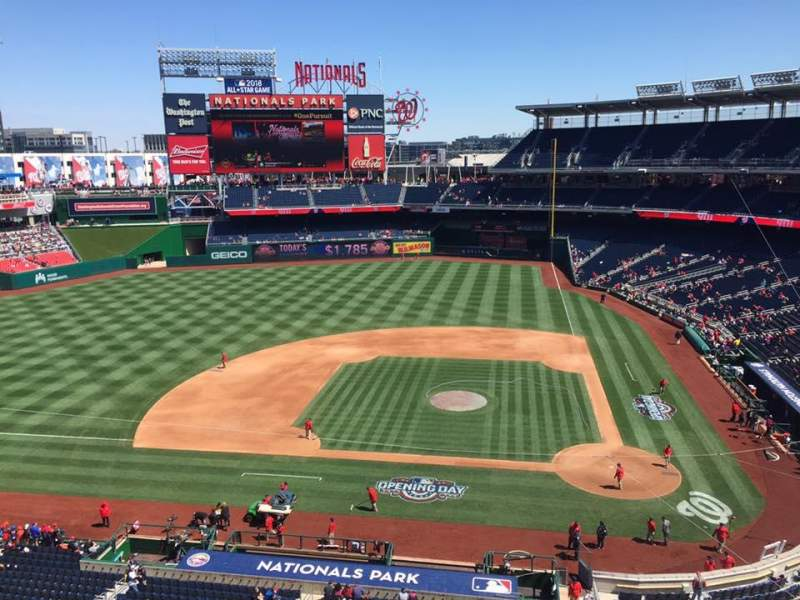 Seating view for Nationals Park Section 309 Row A Seat 3