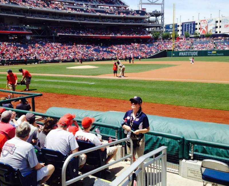 Seating view for Nationals Park Section 132 Row E Seat 2
