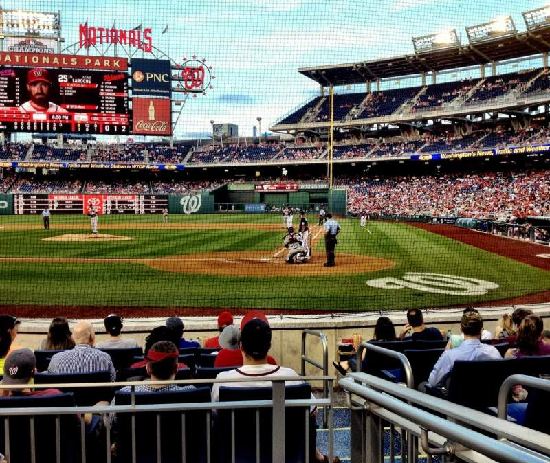 Seating view for Nationals Park Section Presidents Club Row 3 Seat 2