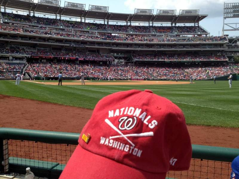 Seating view for Nationals Park Section 135 Row B Seat 5