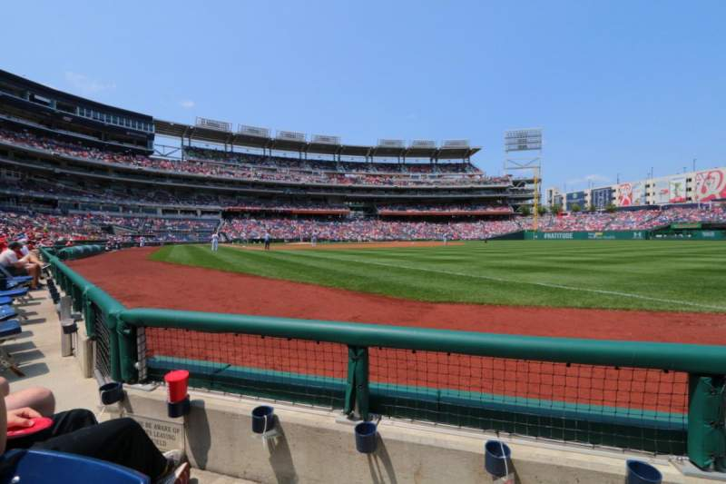 Seating view for Nationals Park Section 135 Row B Seat 2