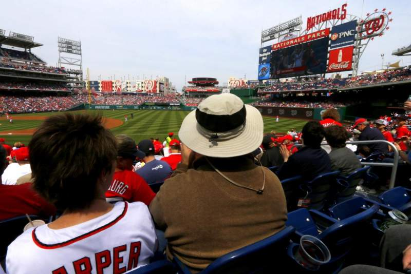 Seating view for Nationals Park Section 132 Row J Seat 4