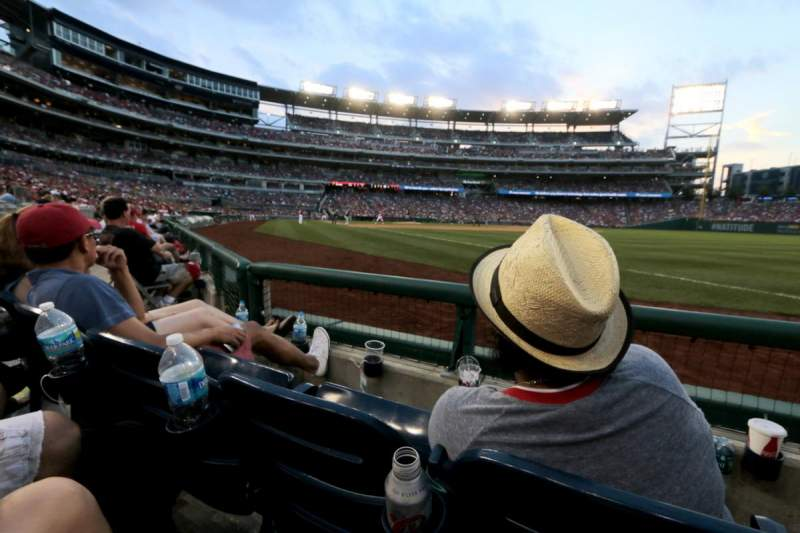 Seating view for Nationals Park Section 135 Row E Seat 6