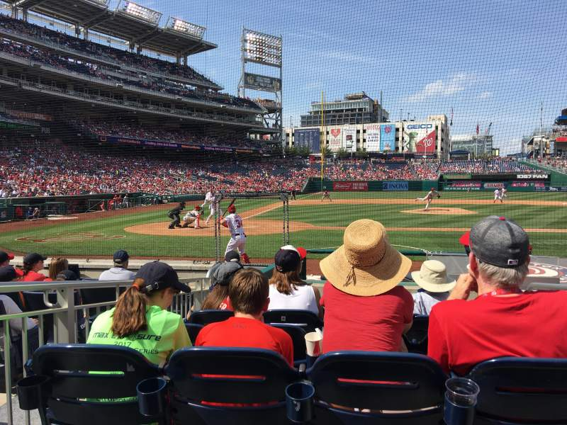 Seating view for Nationals Park Section 127 Row K Seat 1 thru 4