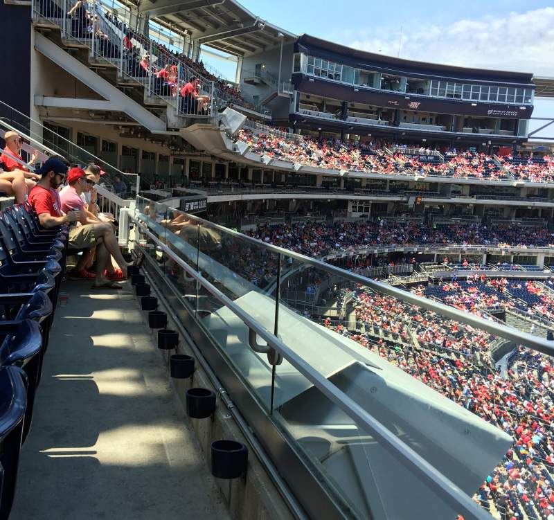 Seating view for Nationals Park Section 222 Row A Seat 1