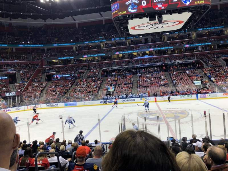 BB&T Center, section: 118, row: 14, seat: 12