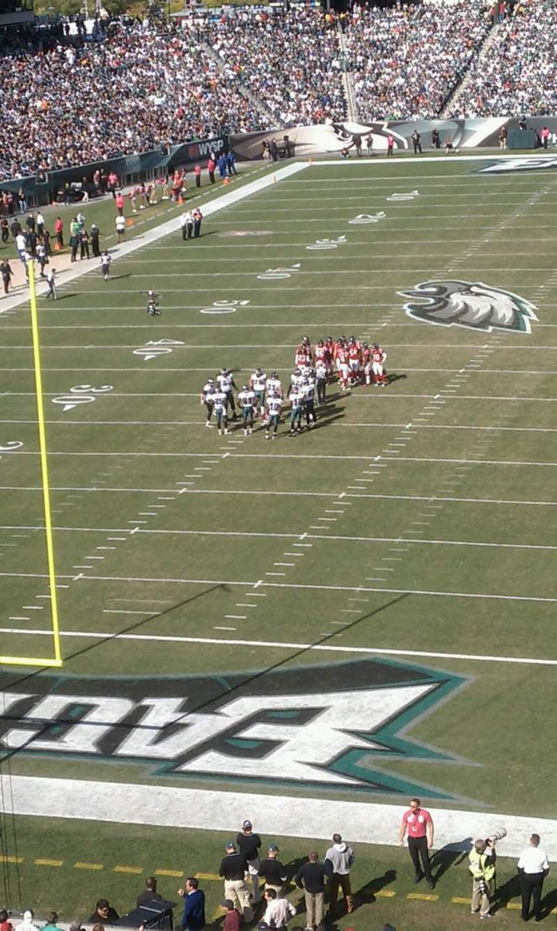 Seating view for Lincoln Financial Field Section M12 Row 2 Seat 3