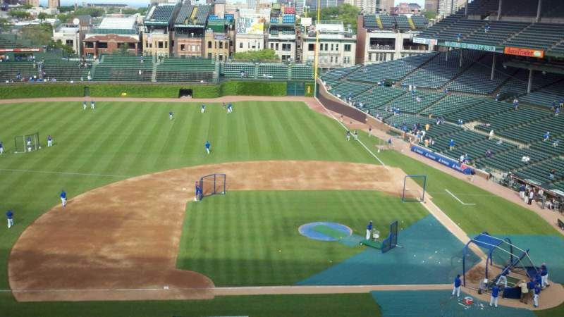 Seating view for Wrigley Field Section 514 Row 1 Seat 104