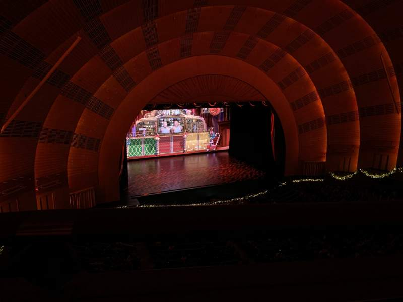 Seating view for Radio City Music Hall Section 3rd Mezzanine 6 Row A Seat 611