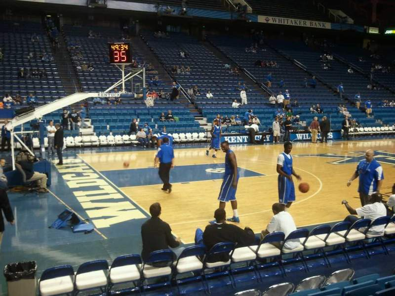 Seating view for Rupp Arena Section 34 Row J Seat 11