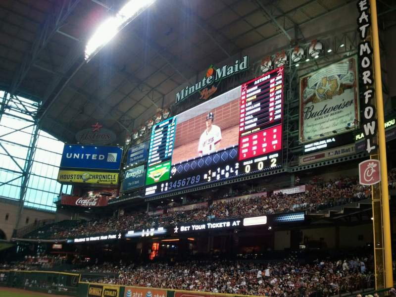Seating view for Minute Maid Park Section 131 Row 6 Seat 13