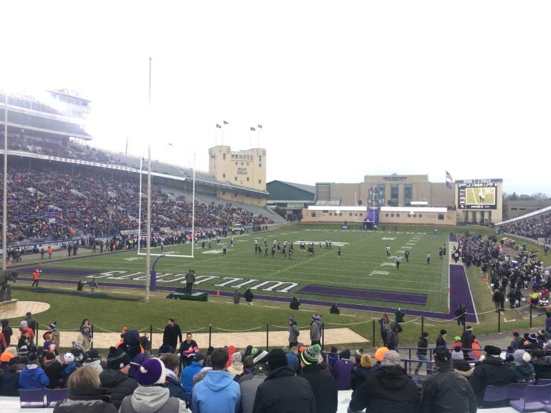 Seating view for Ryan Field Section 116 Row 31 Seat 20